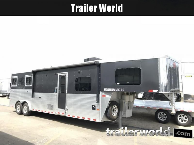 2018 Sundowner Horizon 8012RS Living Quarters 3 Horse Trailer