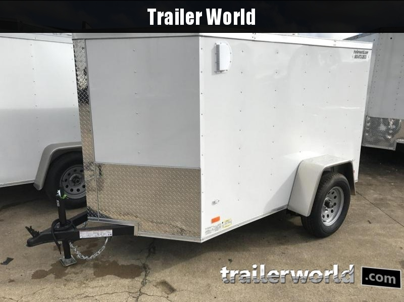 2018 CW 5' x 8' Vnose Enclosed Cargo Trailer Ramp Door