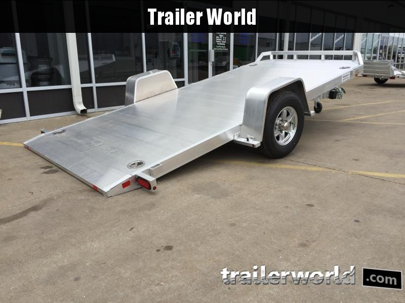2019 Aluma 8214HS 14' Single Axle Aluminum TILT Open Car Hauler Trailer