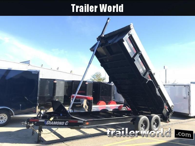 2019 Diamond C 24LPD 16' Dump Trailer Low Profile Commercial Grade 15k GVWR