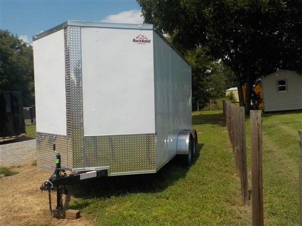 2019 Rock Solid Cargo 7 x 16 TA Enclosed Cargo Trailer with Ramp Door