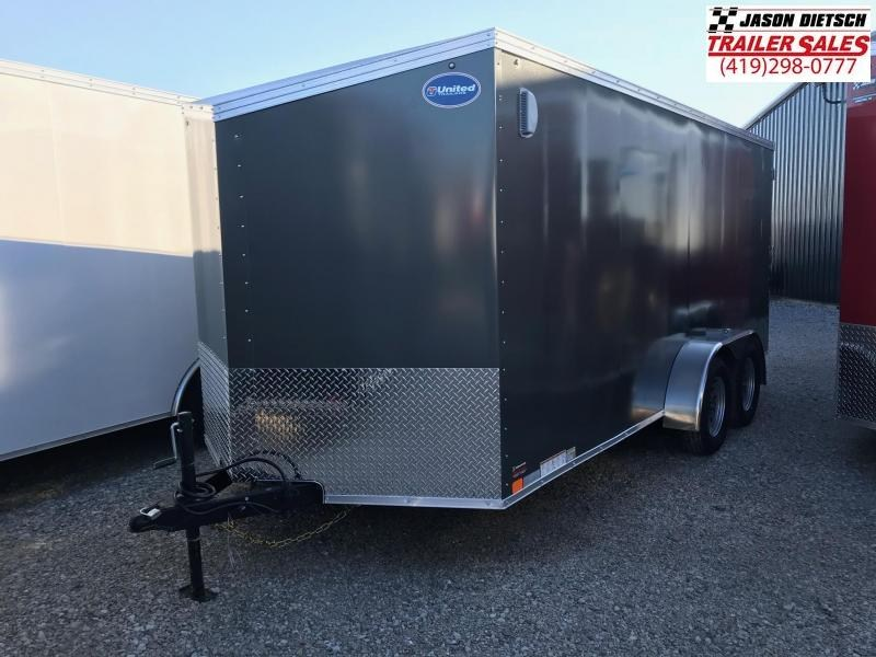 2019 United Trailers XLV 7x16 V-Nose Enclosed Cargo Trailer....Stock# UN-162787