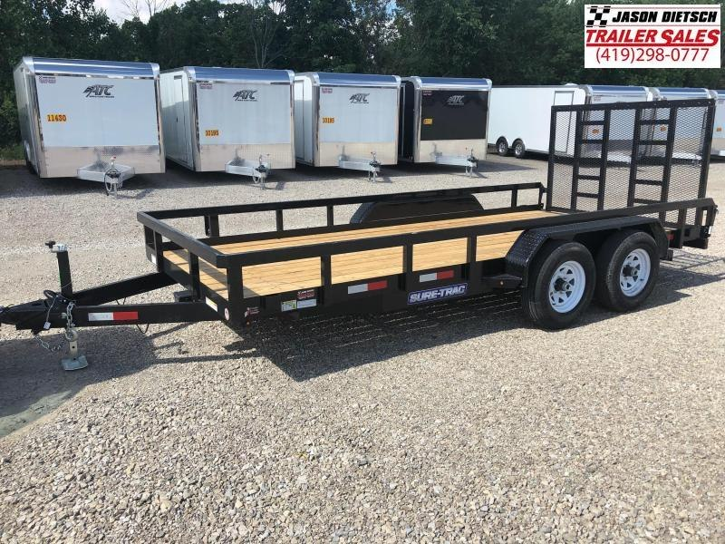 2018 Sure Trac 7x16 Tube Top Utility Trailer....Stock# ST-239104