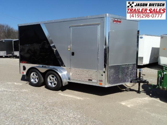 2019 United Trailers XLMTV 7x12 Wedge-Nose Enclosed Car Hauler....Stock # UN-162638