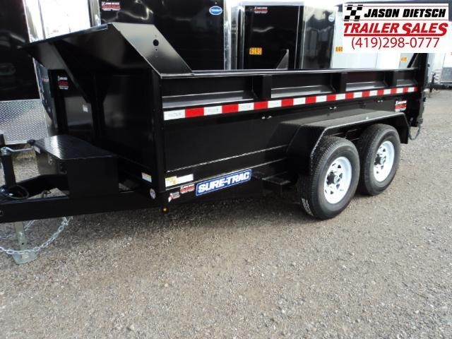 2018 Sure-Trac 82x12 Low Pro Scissor Hoist Dump Trailer....Stock # ST-9719