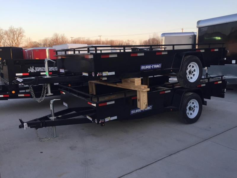 2018 SURE-TRAC 6x12 Steel High Side Trailer..... Stock # ST-228133