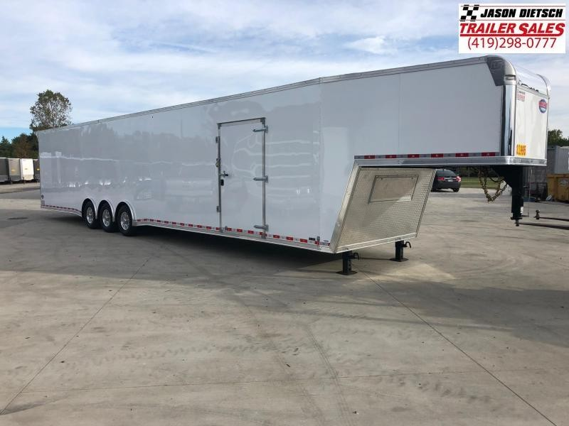 2019 United UXGH 8.5X48 Wide Body Gooseneck Triple Axle Flat Top....Stock# UN-164588
