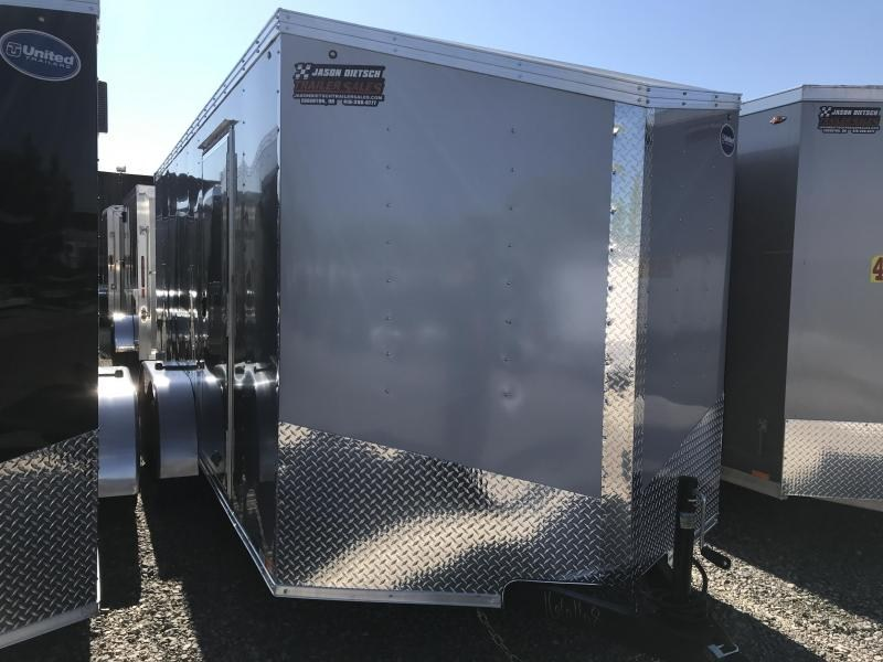 2020 United Trailers XLV 7x16 V-Nose Enclosed Cargo Trailer....Stock# UN-166168