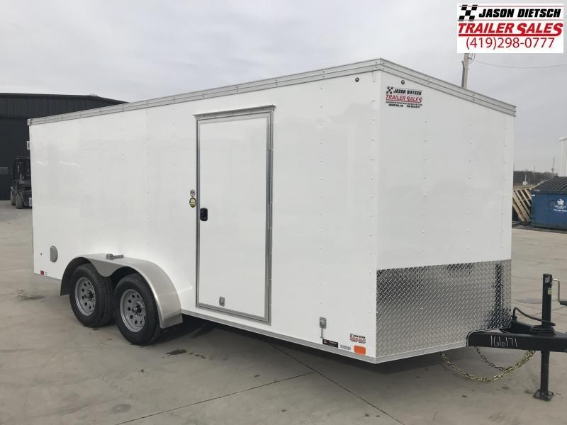 2019 United Trailers XLV 7x16 V-Nose Enclosed Cargo Trailer....Stock# UN-166171