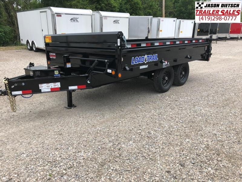 2018 Load Trail 96X14 Tandem Axle Pintle Hook Deck Over Dump Dump Trailer....STOCK# LT-168458