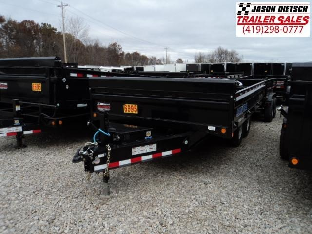 2017 Load Trail DT 96x14 Tandem Axle Pintle Hook Deck Over Dump Trailer....Stock#LT-31546