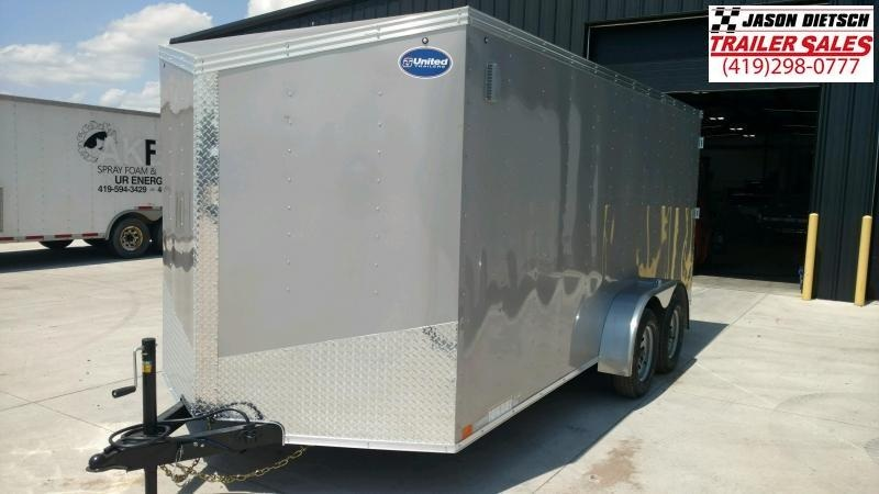 2020 United Trailers XLV 7x14 V-Nose Enclosed Cargo Trailer....Stock# UN-166145