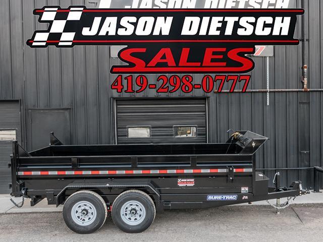 2018 Sure-Trac 82X14 Low Pro Scissor Hoist Dump Trailer....Stock # ST-7566