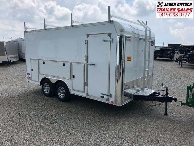 2019 United Trailers UXT 8.5x16 Enclosed Tool Crib Trailer.... Stock 163999