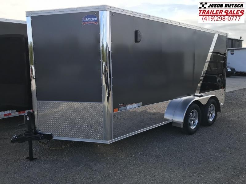 2019 United Trailers XLMTV 7x14 Wedge-Nose Enclosed Car Hauler....Stock # UN-165178
