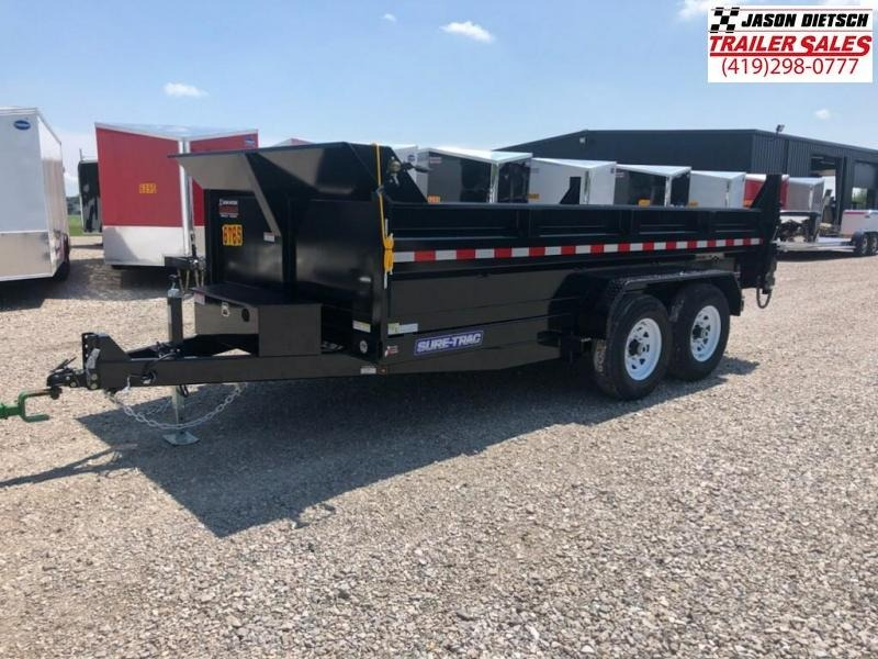 2019 Sure-Trac 82X14 LOW PRO Scissor Dump.... STOCK# ST-247046