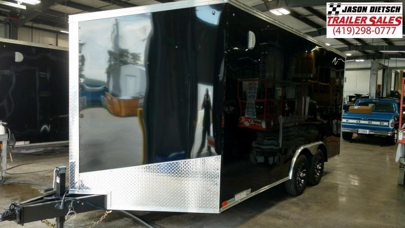 2020 United Trailers XLTV 8.5x19 Wedge-Nose Enclosed Car Hauler....Stock # UN-166607