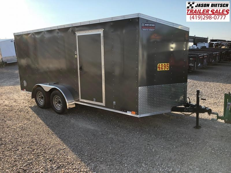 2019 United Trailers XLV 7x16 V-Nose Enclosed Cargo Trailer....Stock# UN-162781
