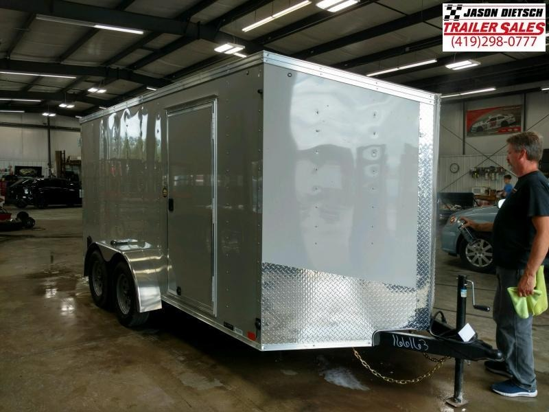 2020 United Trailers XLV 7x14 V-Nose Enclosed Cargo Trailer....Stock# UN-166163