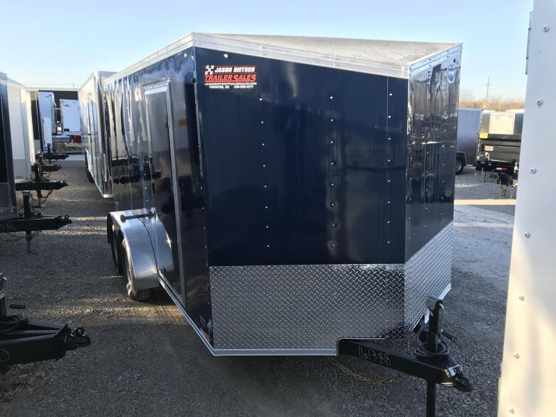 2018 United Trailers XLV 7x14 V-Nose Enclosed Cargo Trailer....Stock# UN-161388