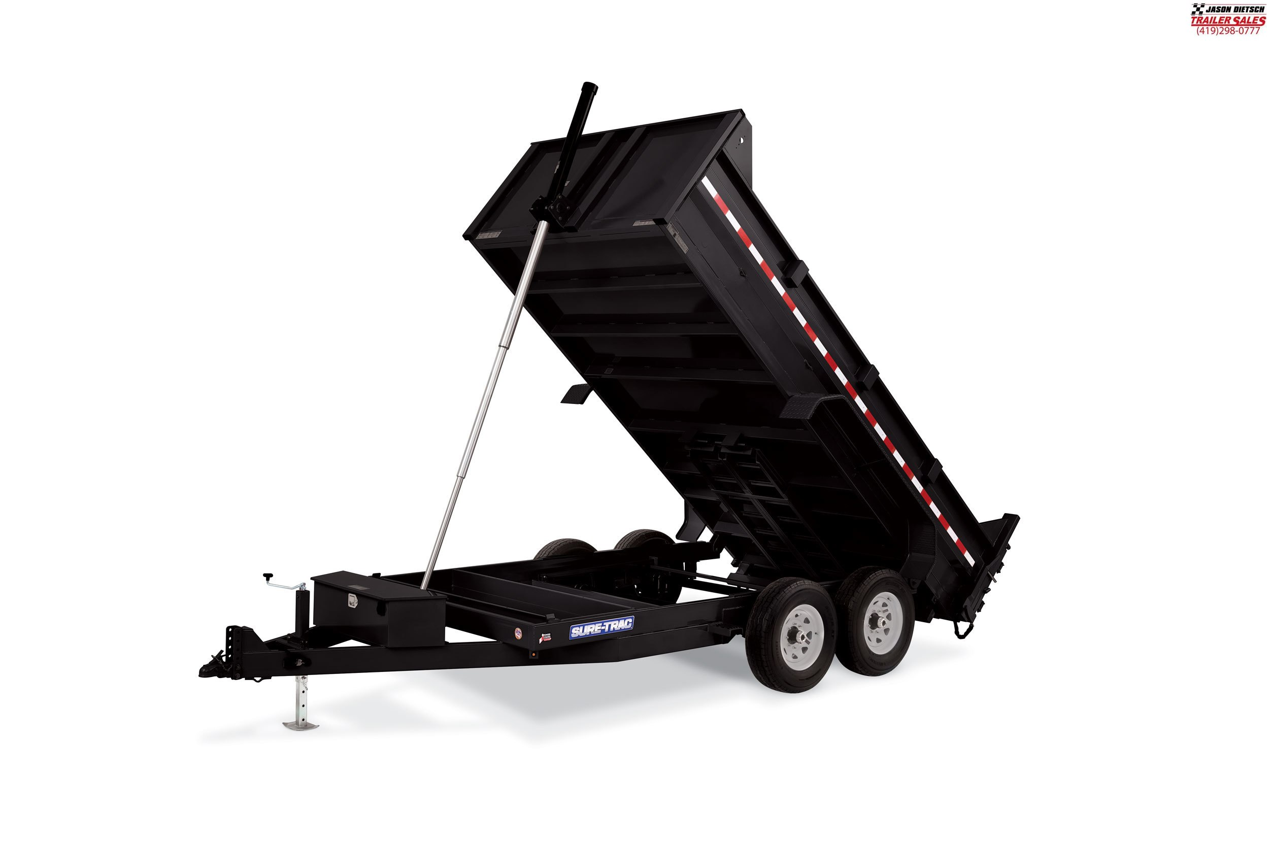 2019 Sure-Trac 82X14 LP 14K Telescopic Dump....STOCK# ST-0563
