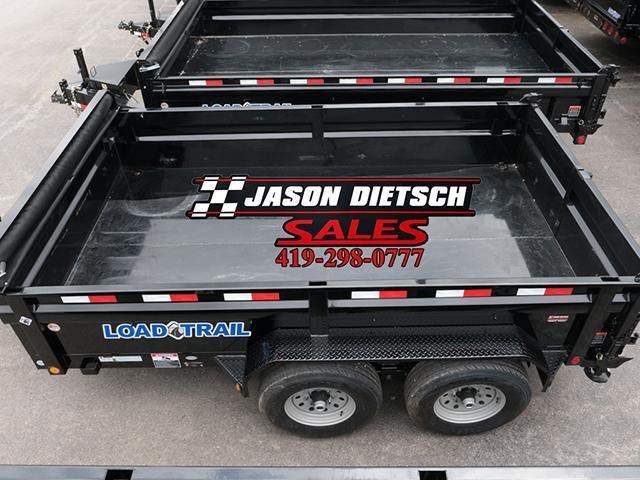 2017 Load Trail DV 83x14 Low Pro Tandem Axle Dump trailer....Stock# LT-31879