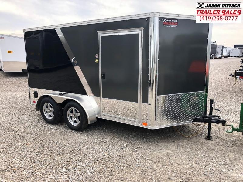 2018 United Trailers XLMTV 7x12 Wedge-Nose Enclosed Car Hauler....Stock # UN-164735