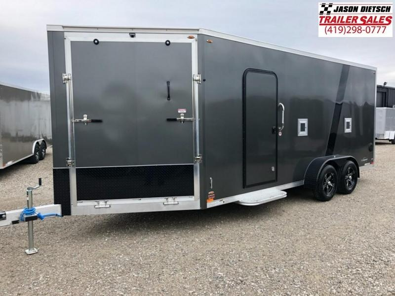 2019 Legend Manufacturing 7X23 EXPLORER EXTRA HEIGHT Snowmobile Trailer....STOCK LG-317371