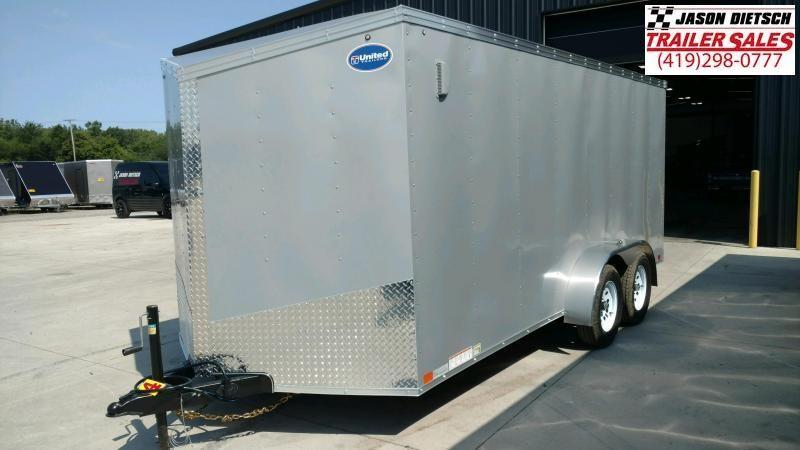 2020 United Trailers XLV 7x16 V-Nose Enclosed Cargo Trailer....Stock# UN-169966