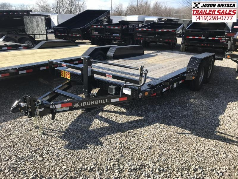 2017 Iron Bull 83x18 Tandem Axle Low Pro Tilt Equipment Trailer W/2 Stationary Deck....Stock#IB-1283