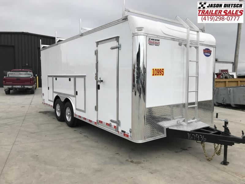 2019 United Trailer UXT 8.5x20 Enclosed Tool Crib Trailer....Stock#UN-167936