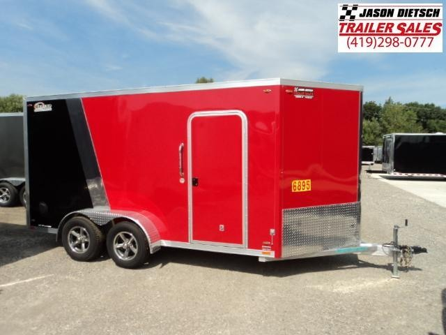 2016 Legend Mfg 7X17 V-Nose  All Aluminum Extra Height Enclosed Cargo Trailer....Stock LG-7726