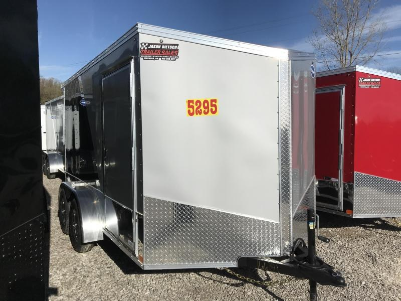 2020 United Trailers XLMTV 7x12 Wedge-Nose Enclosed Car Hauler....Stock # UN-166341
