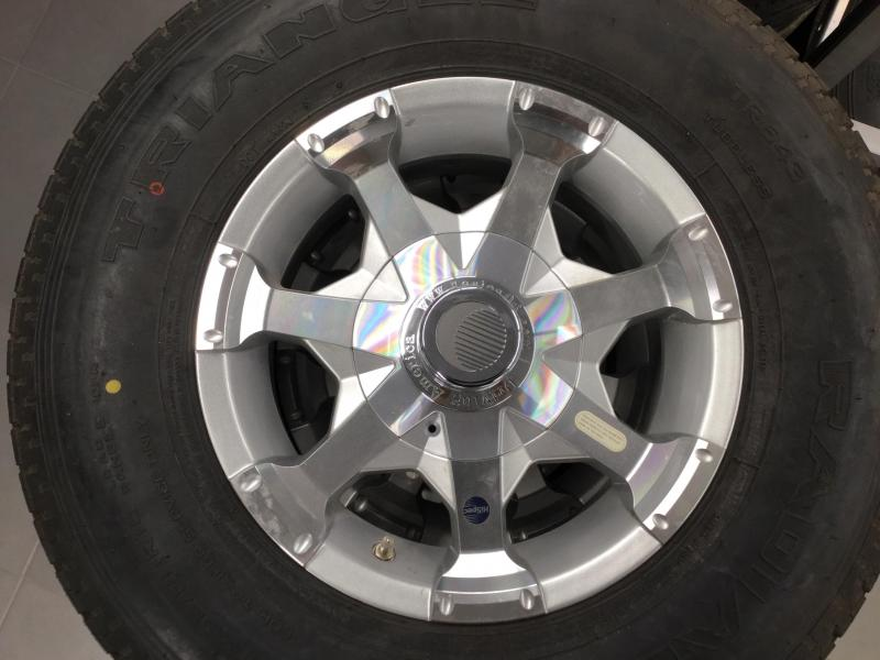"Silver Series06 16"" wheels with Triangle 235/80 LRE"