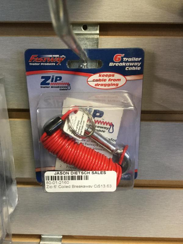 Zip 6' Coiled Break Away Cable