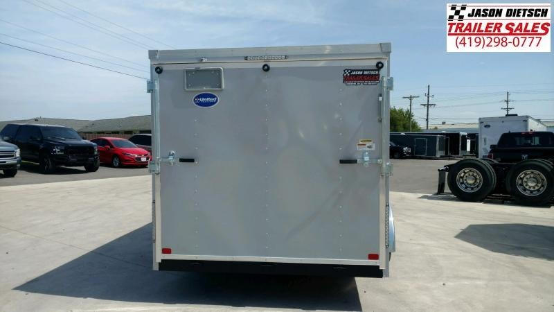 2020 United Trailers XLV 7x16 V-Nose ENCLOSED Trailer..Stock# UN-166173