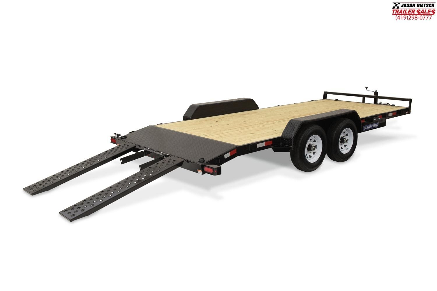 2019 Sure-Trac 7X18 Wood Deck Car Hauler....STOCK# ST-258550