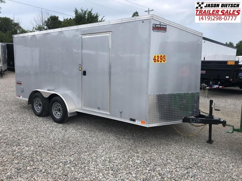 2019 United Trailers XLV 7x16 V-Nose Enclosed Cargo Trailer....Stock# UN-162780