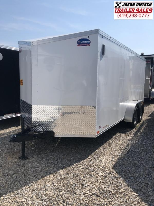 2019 United Trailers XLV 7x16 V-Nose Enclosed Cargo Trailer....Stock# UN-162784