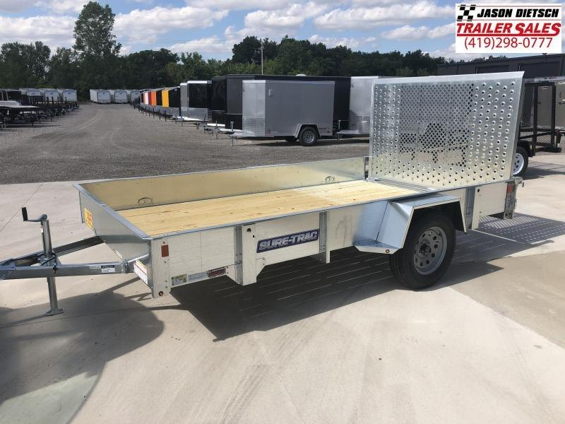 2018 SURE-TRAC 7x12 Galvanized High Side Utility Landscape Trailer..... Stock # ST-230516