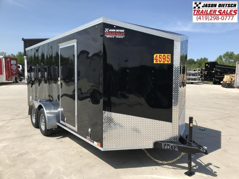 2020 United Trailers XLV 7x16 V-Nose Enclosed Cargo Trailer....Stock# UN-166172