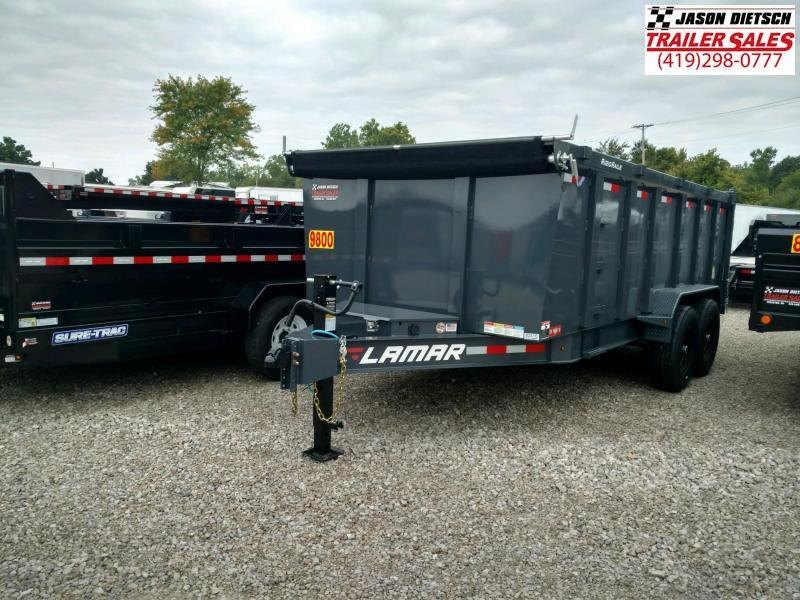 2019 Lamar Trailers 83X16 Low Pro Dump Trailer 14K....STOCK# LM-082415