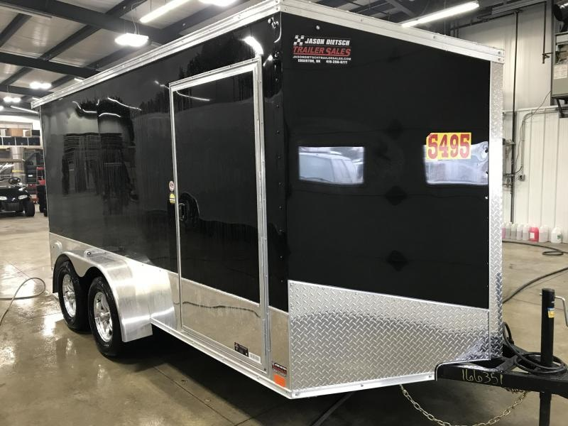2020 United Trailers XLMTV 7x14 Wedge-Nose Enclosed Car Hauler....Stock # UN-166351