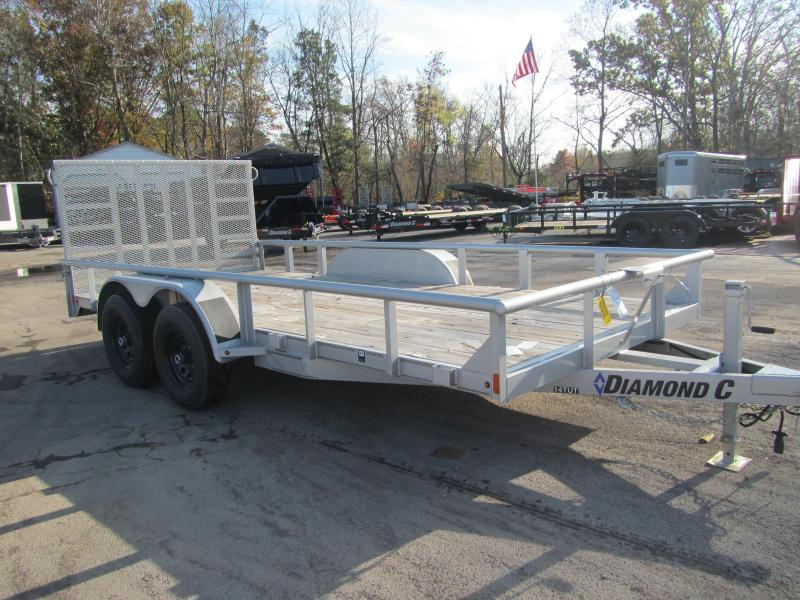 2018 Diamond C Trailers 14 TUT-16 Equipment Trailer