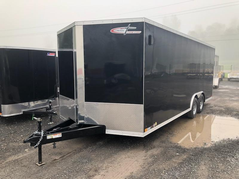 Cross Trailer 8.5x20 10K Enclosed Car Hauler Trailer w/ Ramp Door