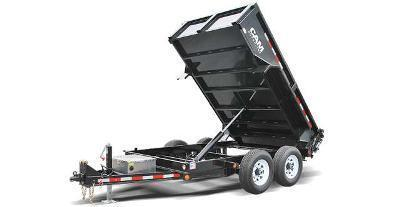 CAM 6x10 Low Profile Dump Trailer 12K w/ Ramps