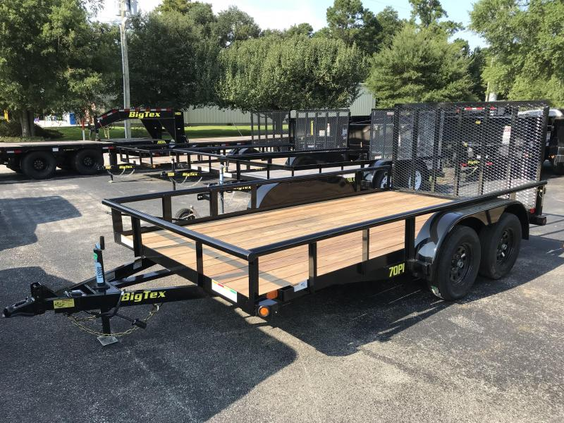 2019 Big Tex Trailers 7k GVWR 16' Tandem Axle Utility Trailer