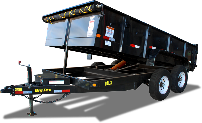 2018 Big Tex 14LX - 14' HD Dump Trailer with Hydraulic Front Jack