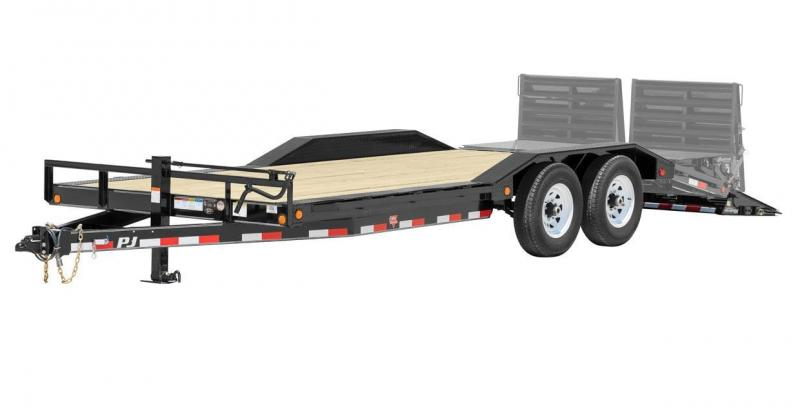 2017 PJ Trailers B6202 Equipment Trailer with Drive Over Fenders