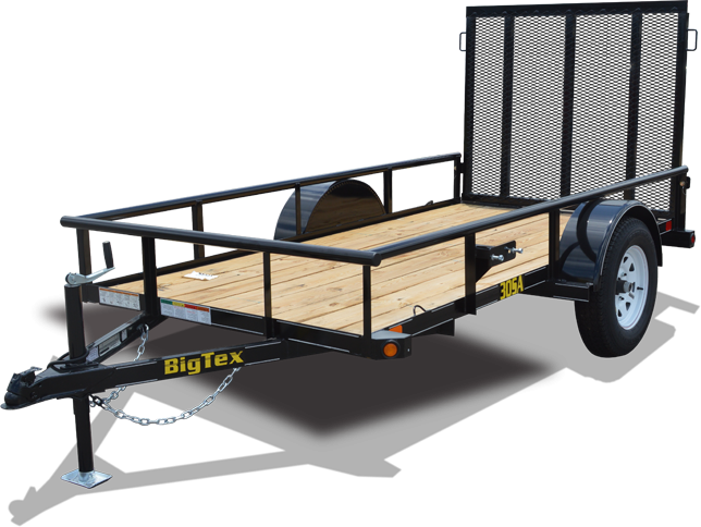 2019 Big Tex 35SA - 14' Utility Trailer with Pipe Top Rails
